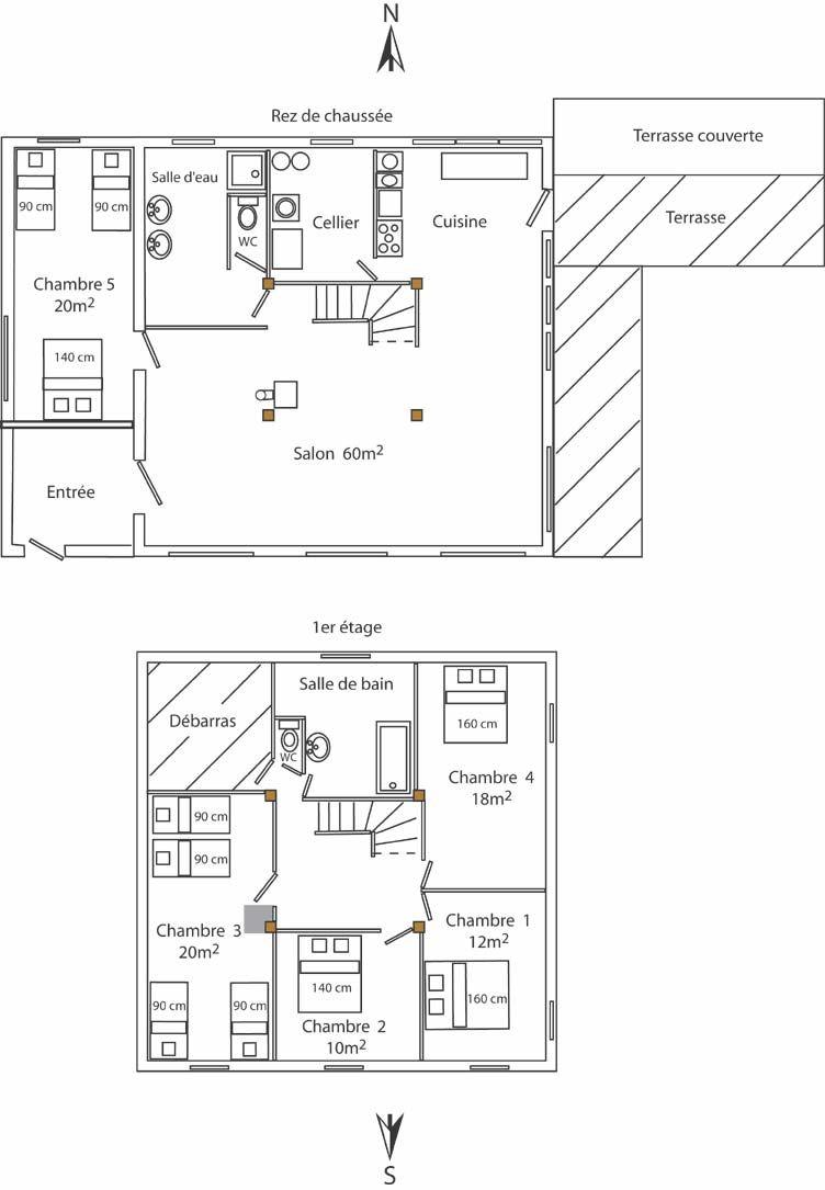 plan dune maison landaise
